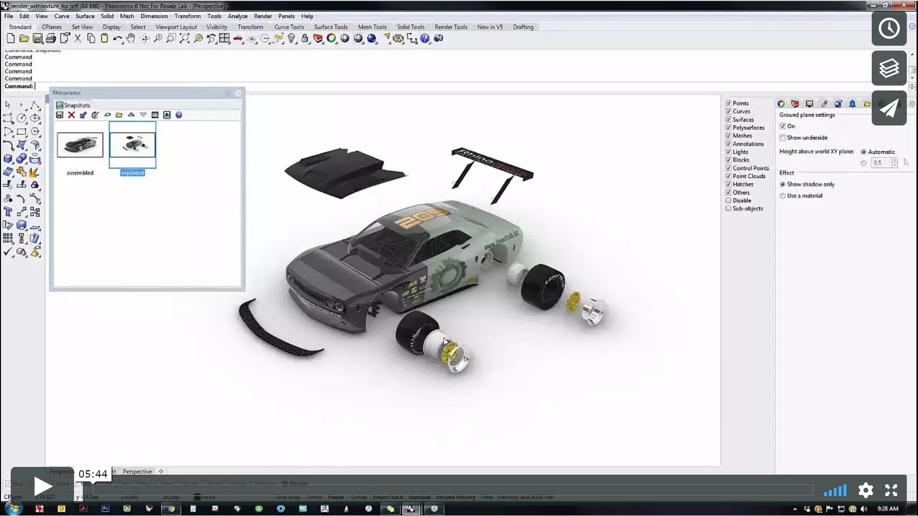 Use Snapshots to assemble the model