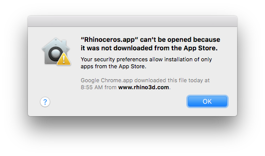 Mac Application Downloaded From The Internet Warning
